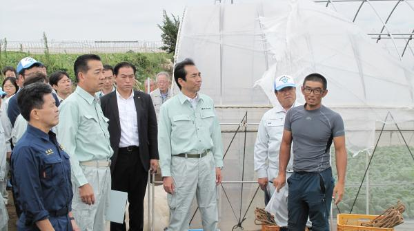 『江藤大臣・上月議員視察(1)』の画像