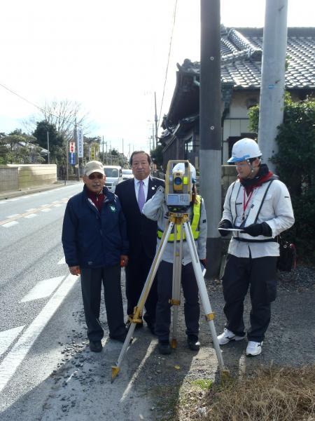 『国道51号子生地区歩道整備(1)』の画像
