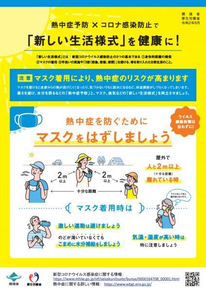『<「新しい生活様式」における熱中症予防行動のポイント>(1)』の画像