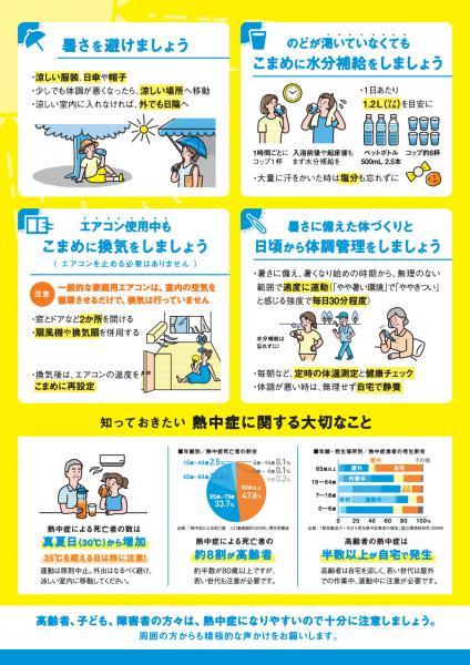 『<「新しい生活様式」における熱中症予防行動のポイント>(2)』の画像