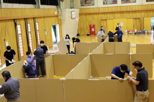 『避難所開設訓練(12)』の画像