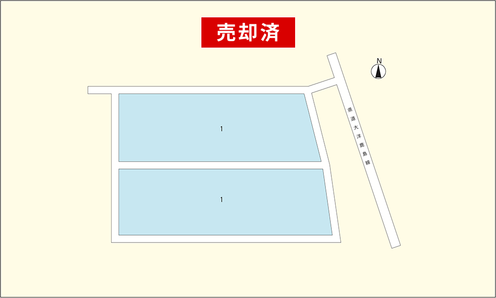 『鉾田市(大蔵)区画図』の画像