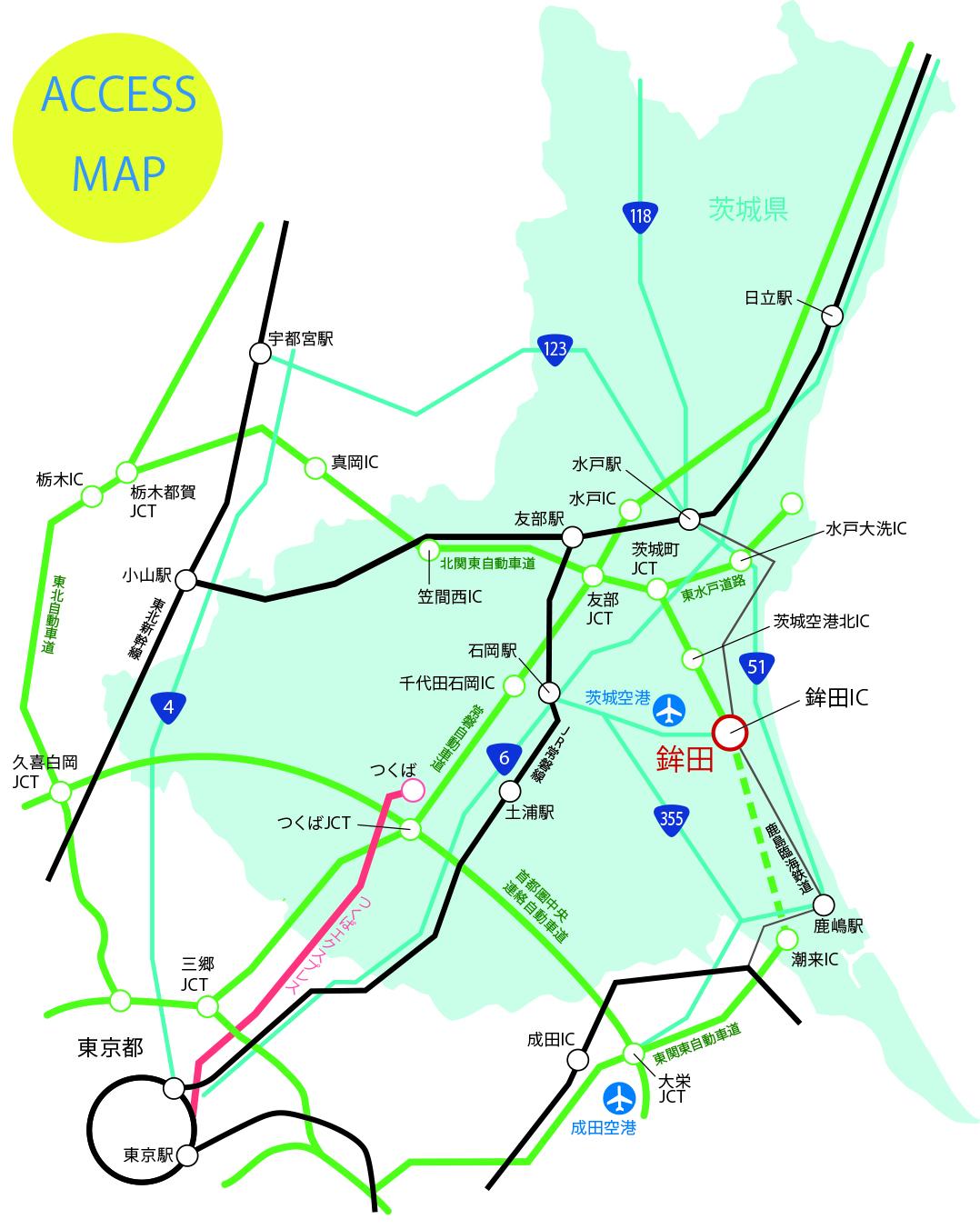 『日本・茨城県・鉾田市の地図』の画像