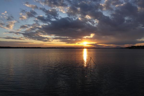 『涸沼 夕日』の画像